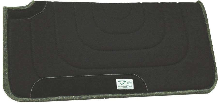Diamond Wool Square Ranch Pad with 4'' Cutback