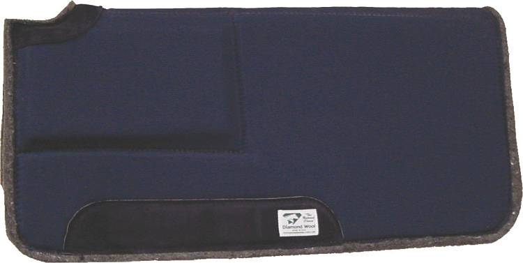 Diamond Wool Square Ranch Pad with 1'' Built-Up And 4'' Cutback