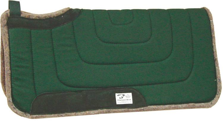Diamond Wool Square Ranch Pad with 10'' Cutback