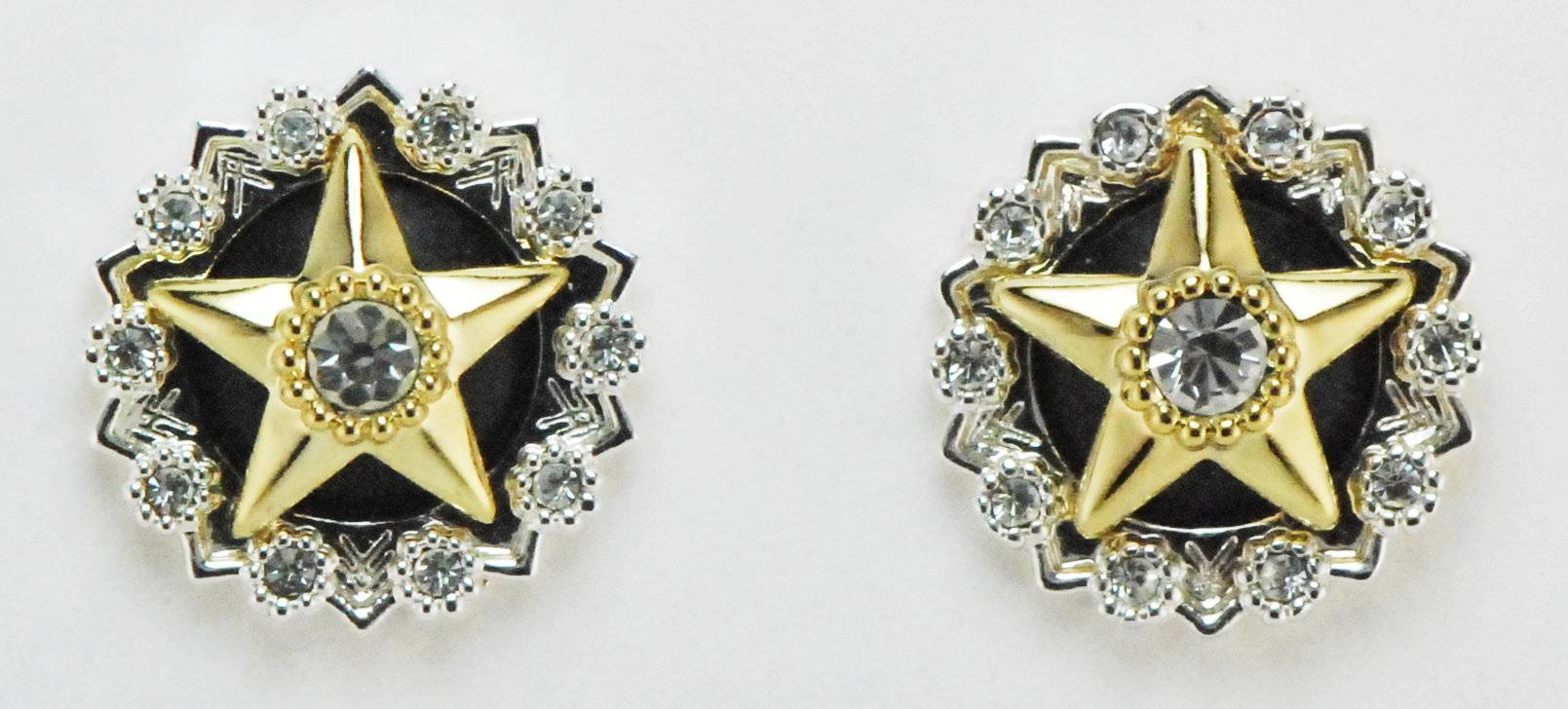 Western Edge Jewelry Crystal Center Star Earrings