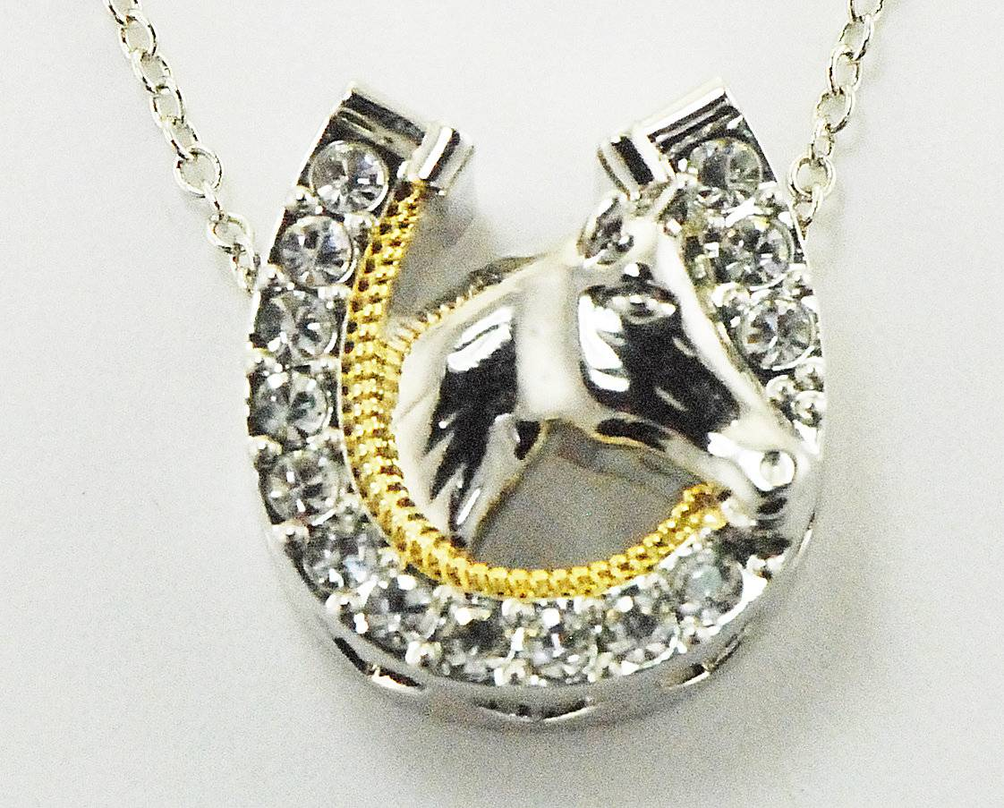 Western Edge Jewelry Horseshoe Horsehead Necklace