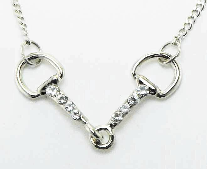 Western Edge Jewelry Crystal Snaffle Bit Necklace