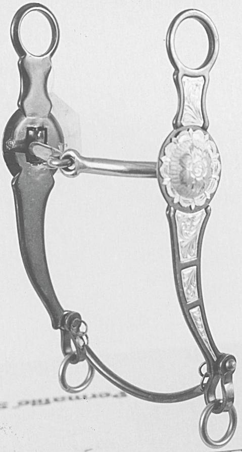 Darnall Cowhorse Shank Snaffle Bit With Silver