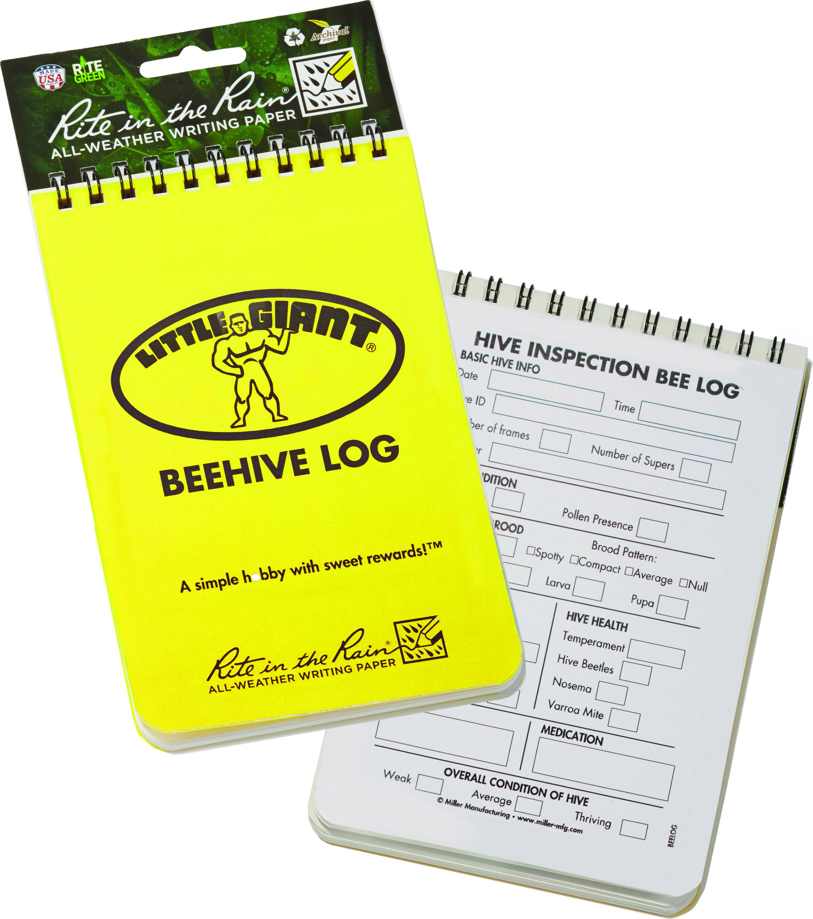 Little Giant Bee Hive Log Book