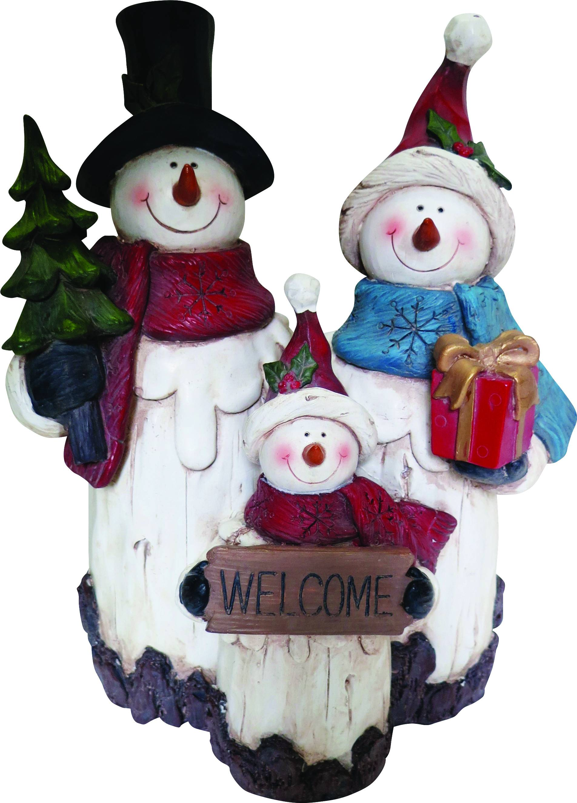 Snowman Family Statue