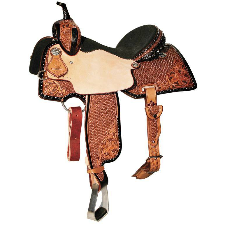 Reinsman 4287 Charmayne James Barrel Racer Saddle-Lily/Snowflake