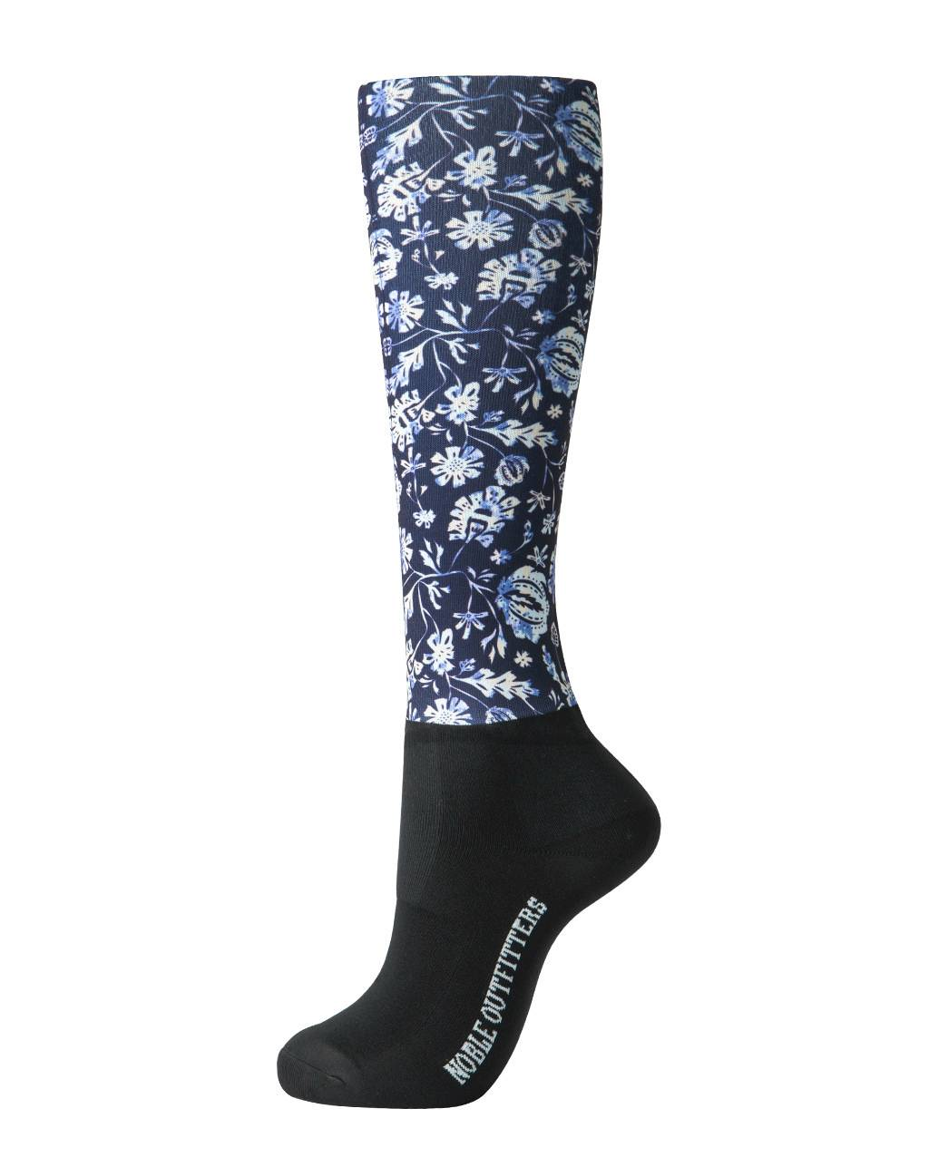 Noble Outfitters Ladies Over the Calf Peddies - Dark Navy Floral
