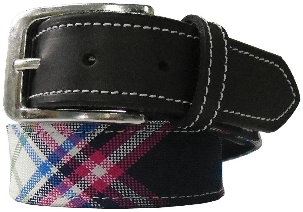 Equine Couture Ladies' Amber Diagonal Plaid Belt