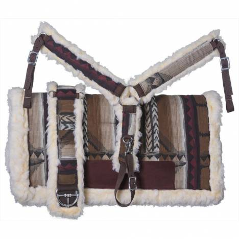 Tough-1 Navajo Saddle Pad, Breastcollar, And Girth Set