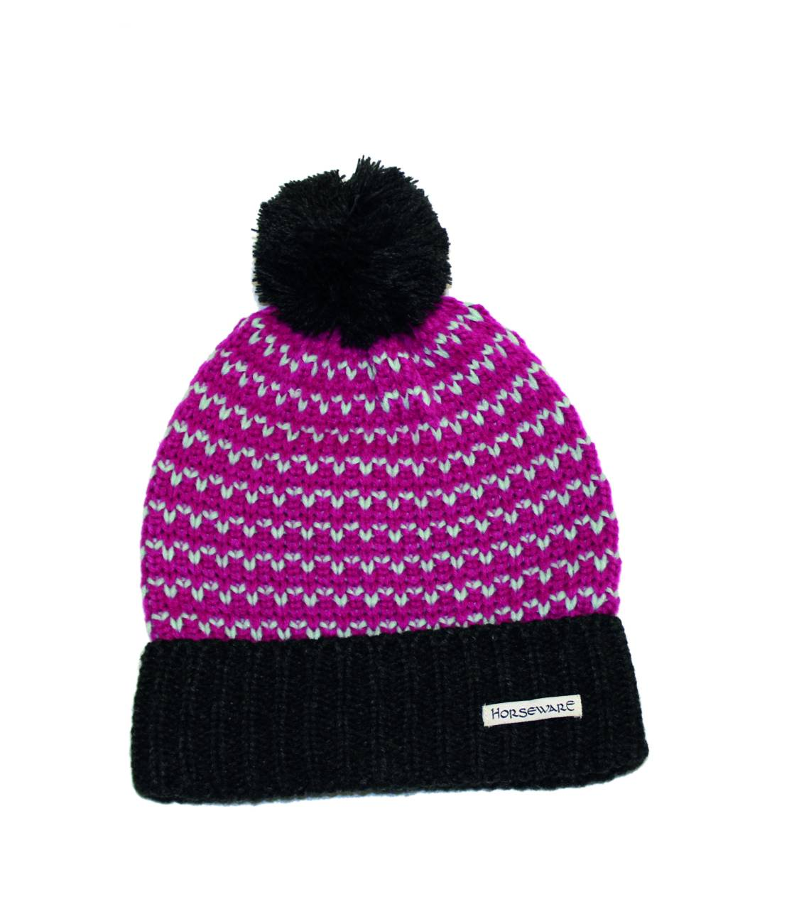Horseware Ladies Bobble Hat & Scarf Set