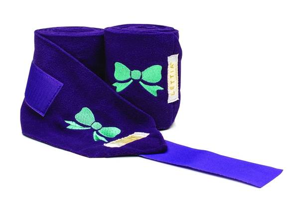 Lettia Embroidered Polo Wrap - Bows