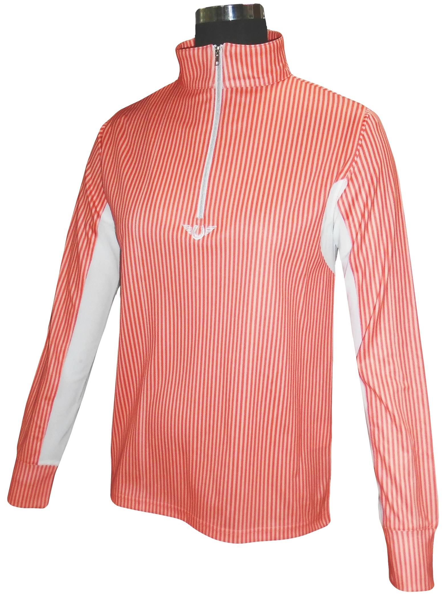 TuffRider Ladies Neon Stripe Long Sleeve Technical Shirt
