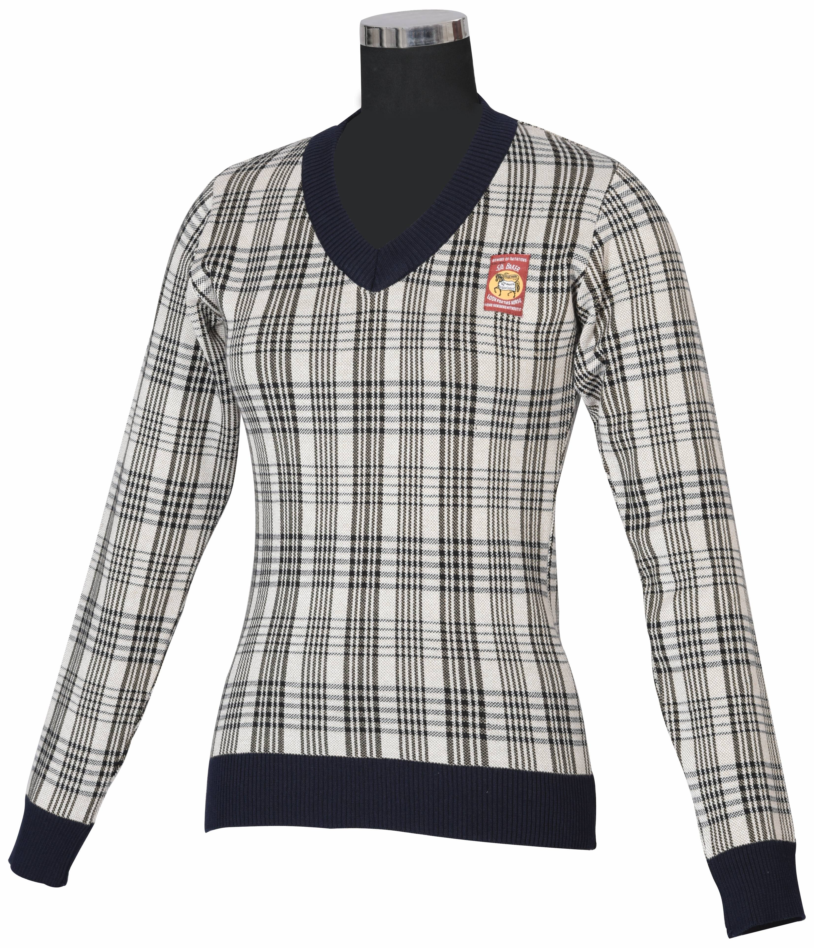 Baker Ladies Plaid Sweater