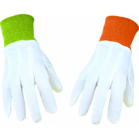 Boss Garden Ladies Cotton Canvas Glove Knit Wrist - White - One Size