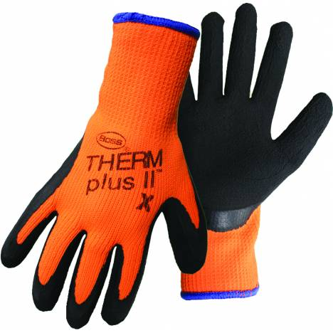 Therm Plus ll High-Vis Latex Coated Palm Glove - Black Orange - Large