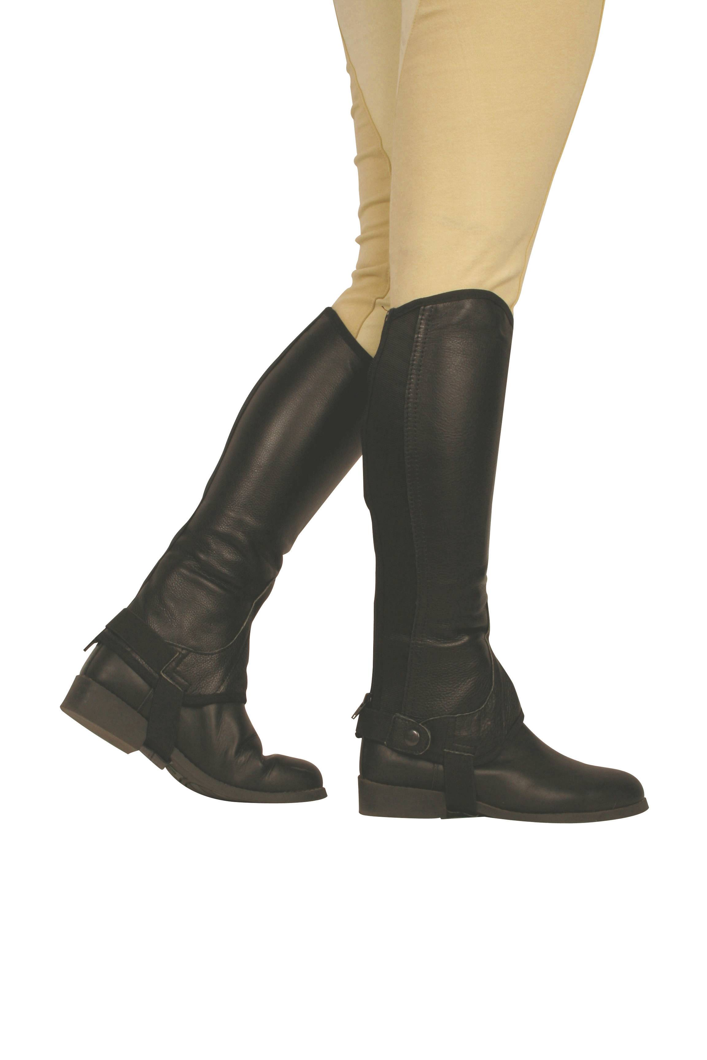 Dublin Flexi Leather II Half Chaps