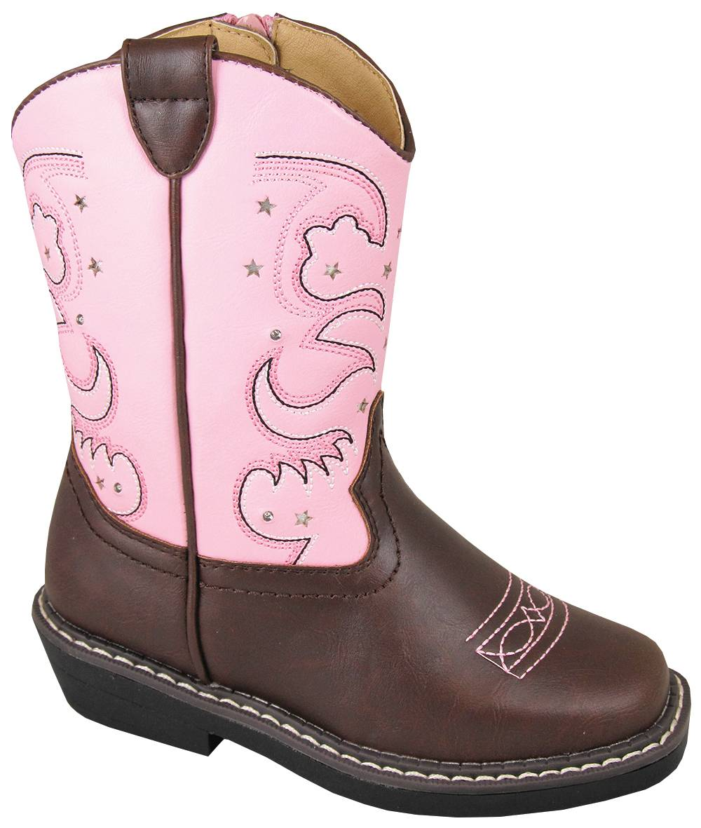 Smoky Mountain Toddler Austin Lights Square Toe Boots - Pink