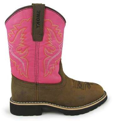 Smoky Mountain Childs Colby Boots - Pink