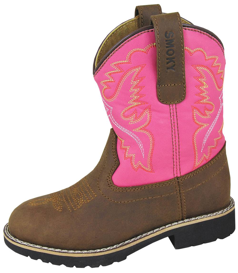 Smoky Mountain Youth Colby Boots - Pink