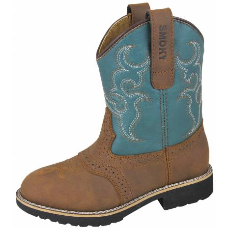 Smoky Mountain Youth Colby Boots - Turquoise