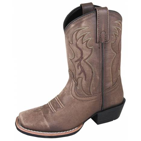 Smoky Mountain Youth Gallup Square Toe Boots - Brown