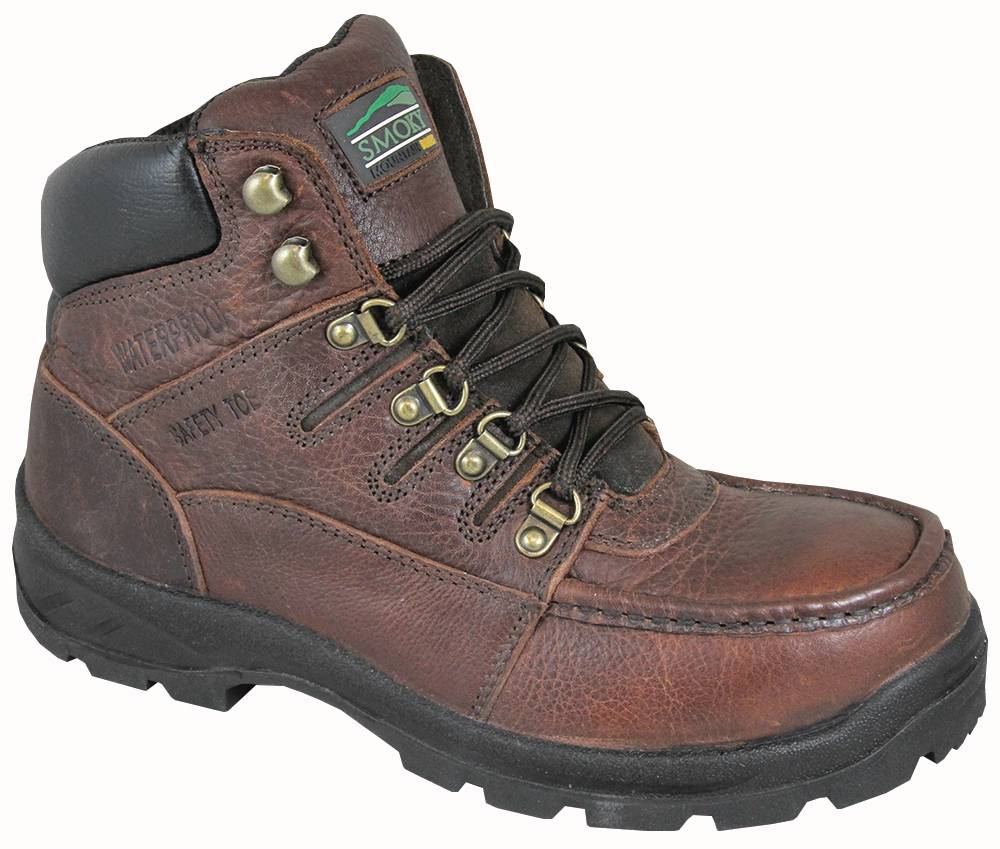 Smoky Mountain Mens Dixon Waterproof Steel Toe Lace Up Boots -Brown