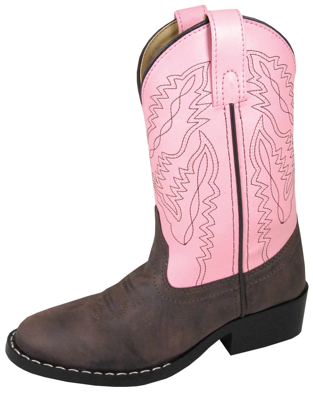 Smoky Mountain Toddler Monterey Western Boots - Brown/Pink