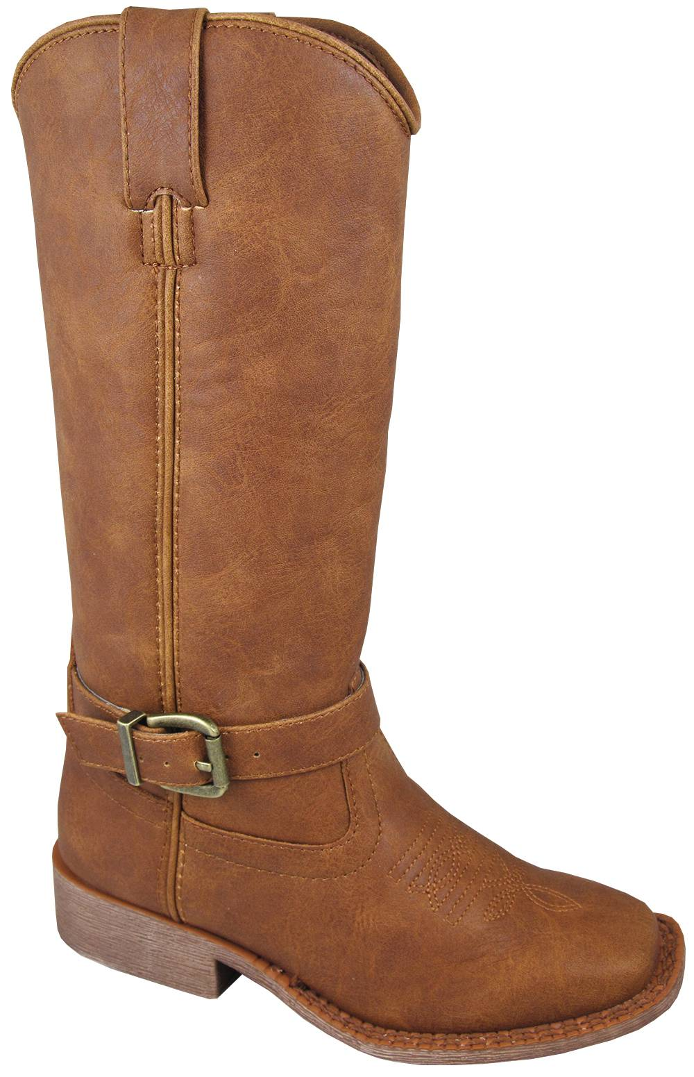 Smoky Mountain Youth Buttercup Tall Square Toe Boots - Tan