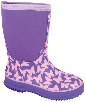 Smoky Mountain Childs Butterfly Amphibian Boots - Pink