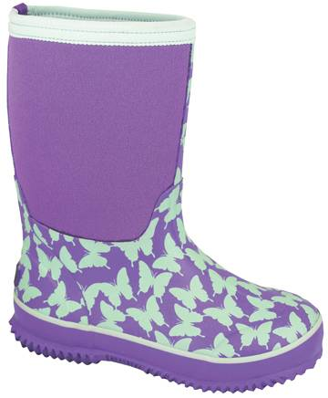 Smoky Mountain Child's Butterfly Amphibian Boots - Light Green