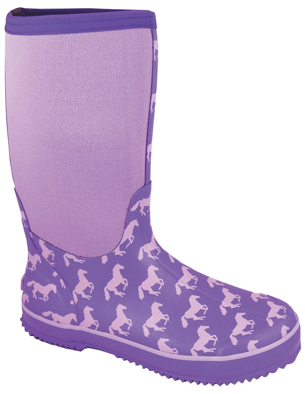 Smoky Mountain Womens Horses Amphibian Boots - Purple