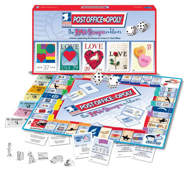 POST OFFICE-OPOLY - LOVE STAMP EDITION: The Board Game