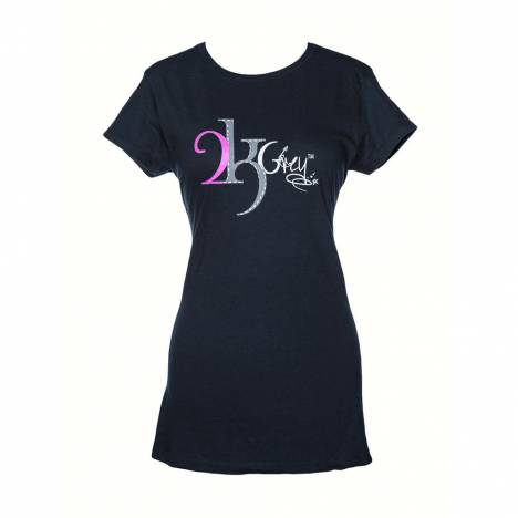 2kGrey Ladies Navy Logo Tee Shirt