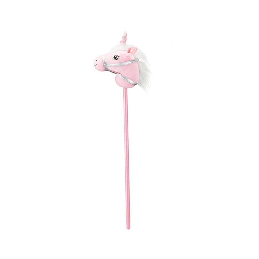 Breyer Unicorn Stick Horse Luna - Pink