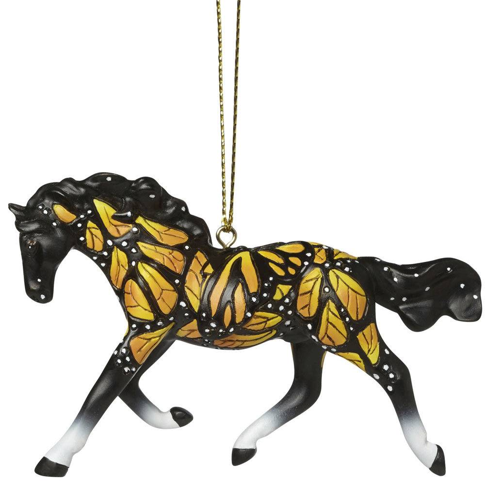 The Trail Of Painted Ponies Butterflies Run Free Ornament