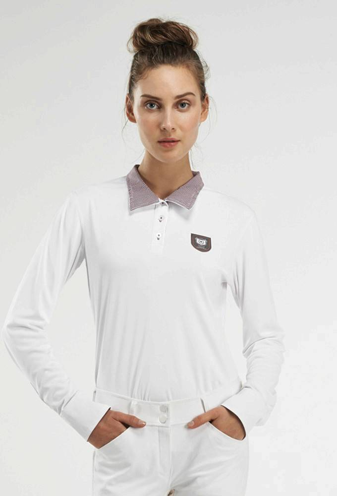 NOEL ASMAR Equestrian Convertible Long Sleeve Polo