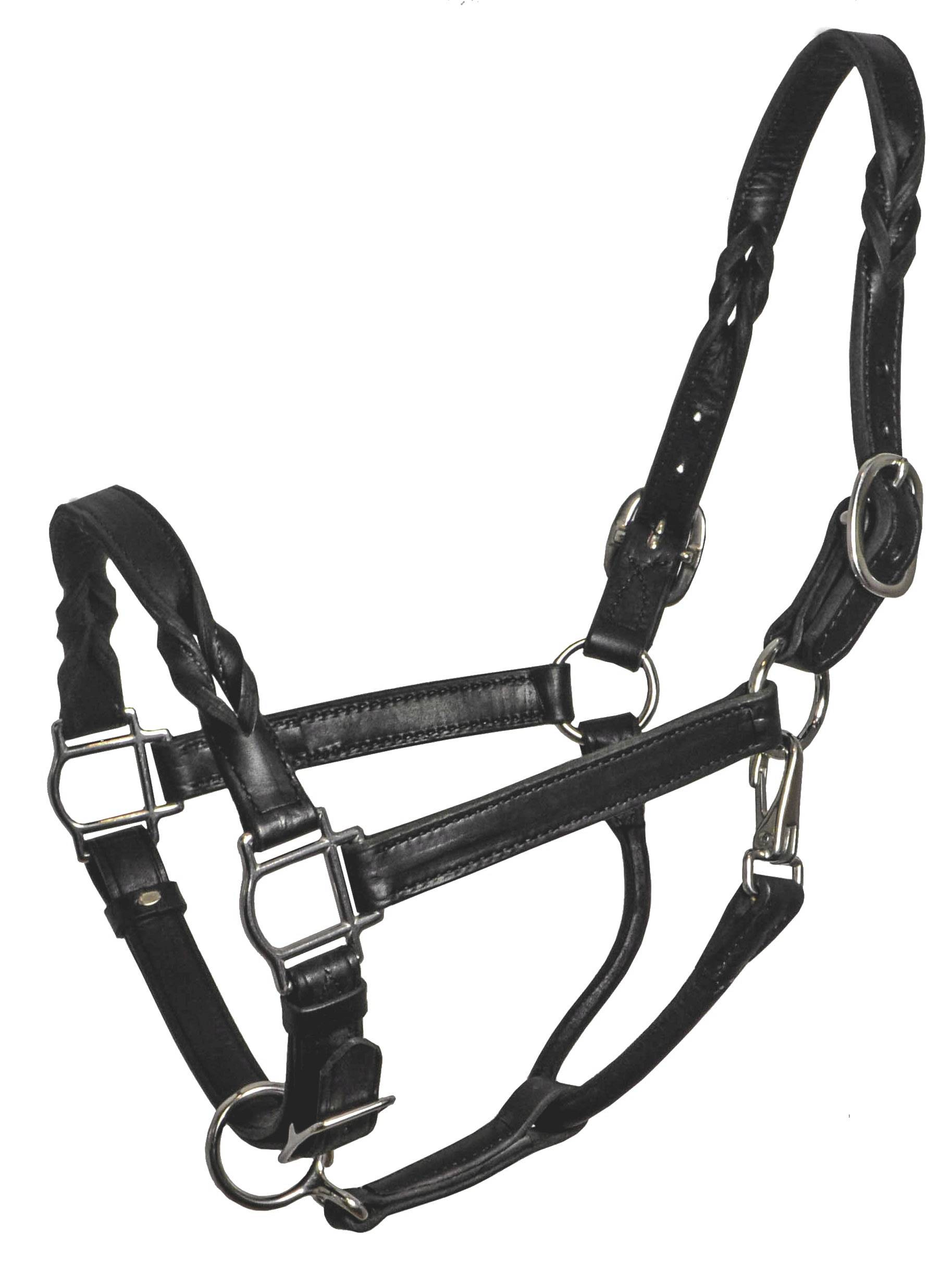 Perri's Twisted Leather Halter - FREE Perri's Leather Potion 0.75 oz.