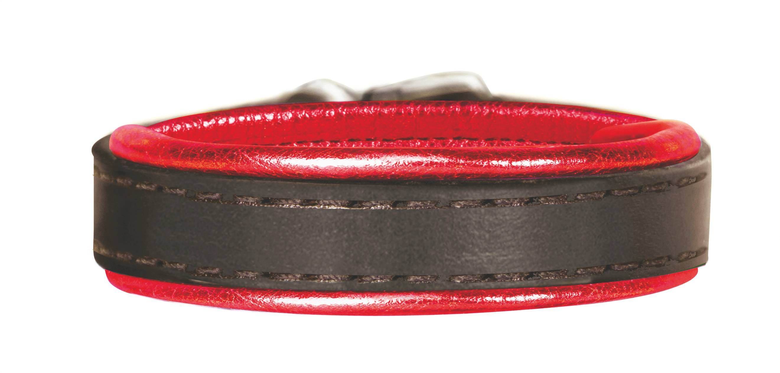 Perri's Metallic Padded Leather Bracelet