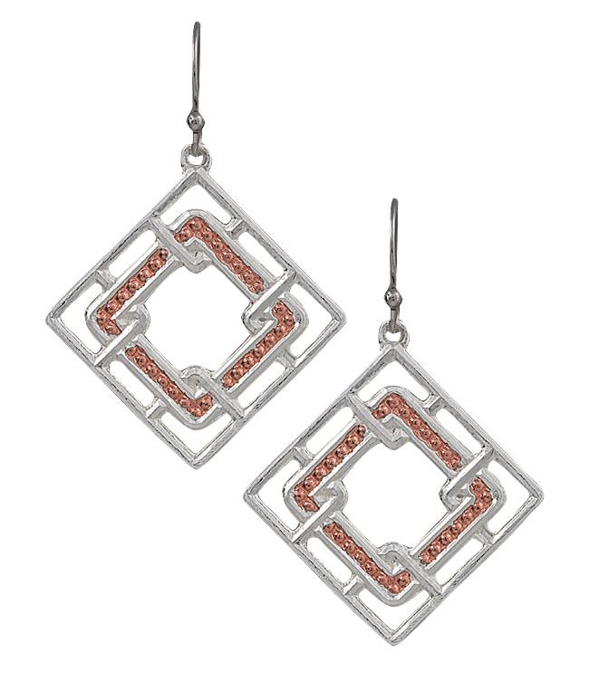 Montana Silversmiths Interlocking Square Earrings