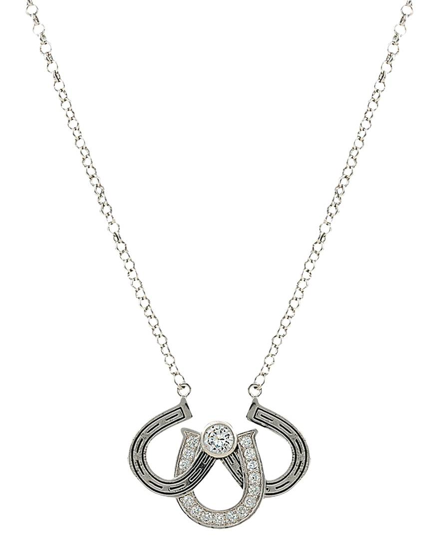 Montana Silversmiths Triple the Luck Necklace