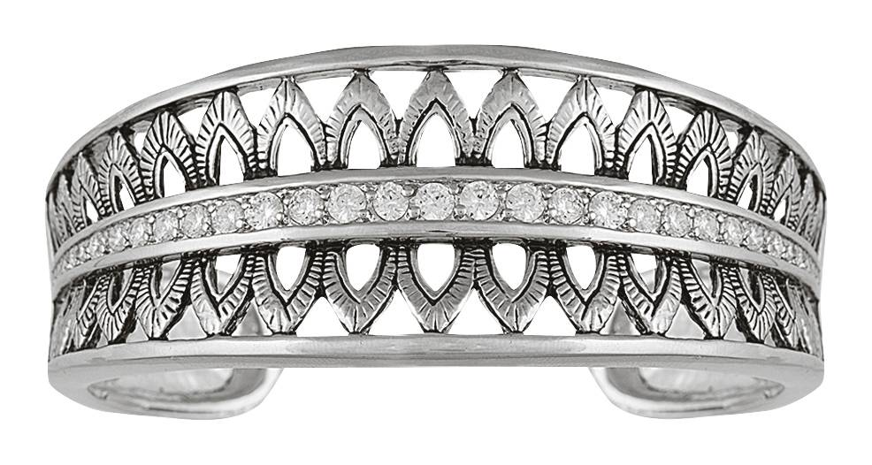 Montana Silversmiths Feathered Crown Cuff Bracelet