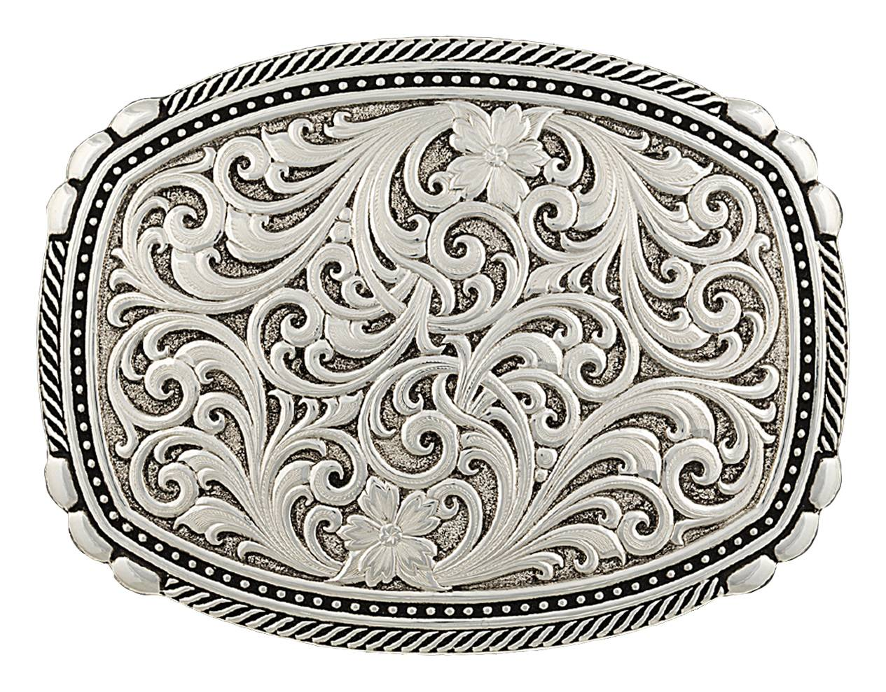 Montana Silversmiths Antiqued Medium Two-Tone Framed Buckle