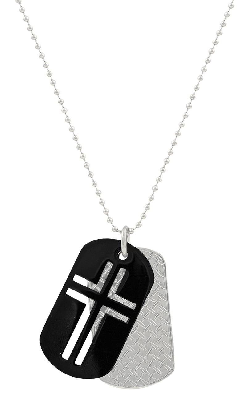 Montana Silversmiths Stainless Steel Cross Token Necklace