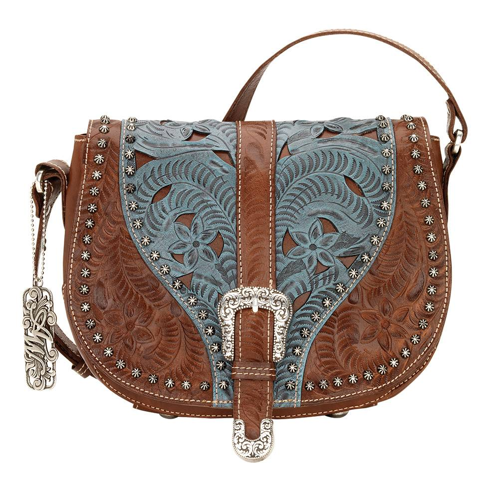 AMERICAN WEST Blazing Saddle Crossbody Bag - Denim Blue