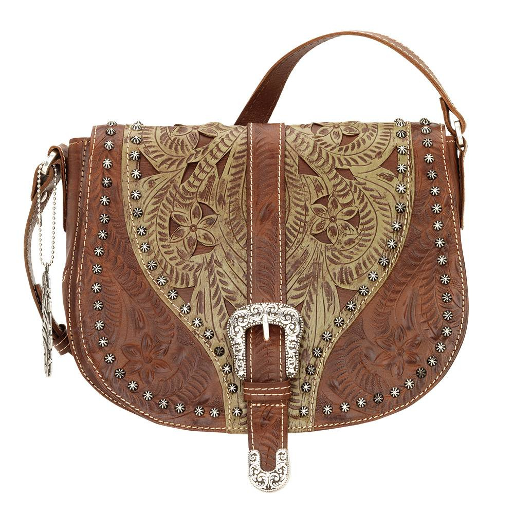AMERICAN WEST Blazing Saddle Crossbody Bag - Avocado
