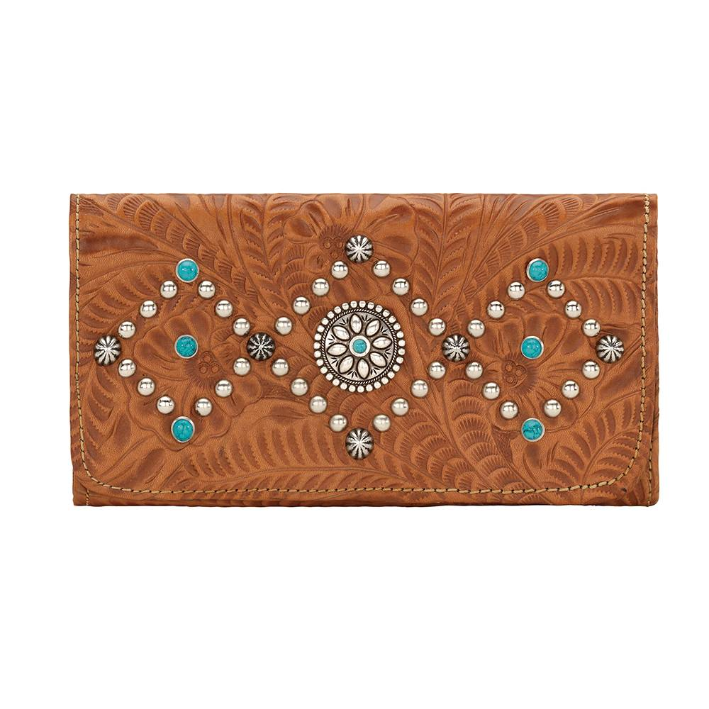 AMERICAN WEST Canyon Creek Tri-fold Wallet - Golden Tan