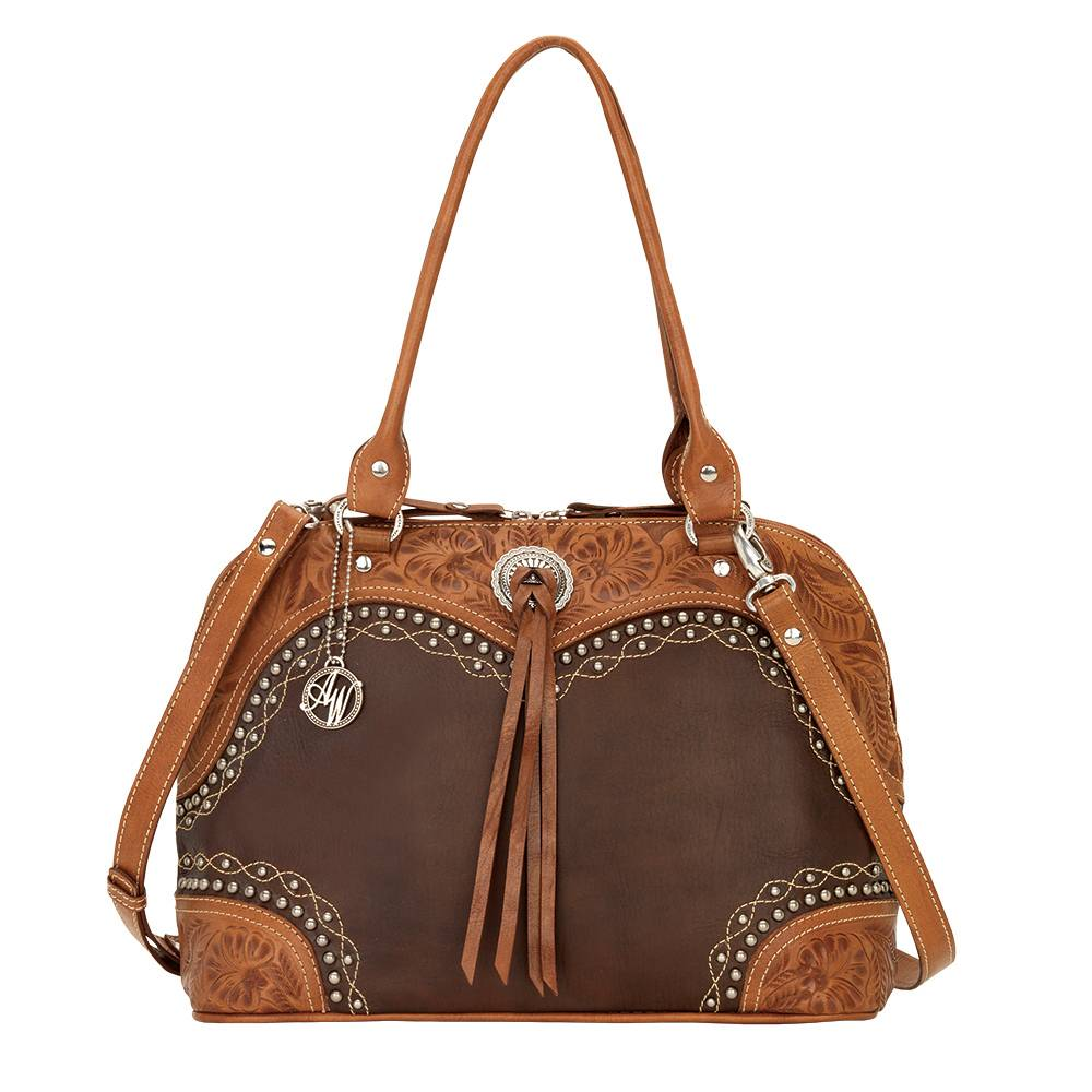 AMERICAN WEST Chestnut Ridge Zip-Around Satchel/Crossbody Bag