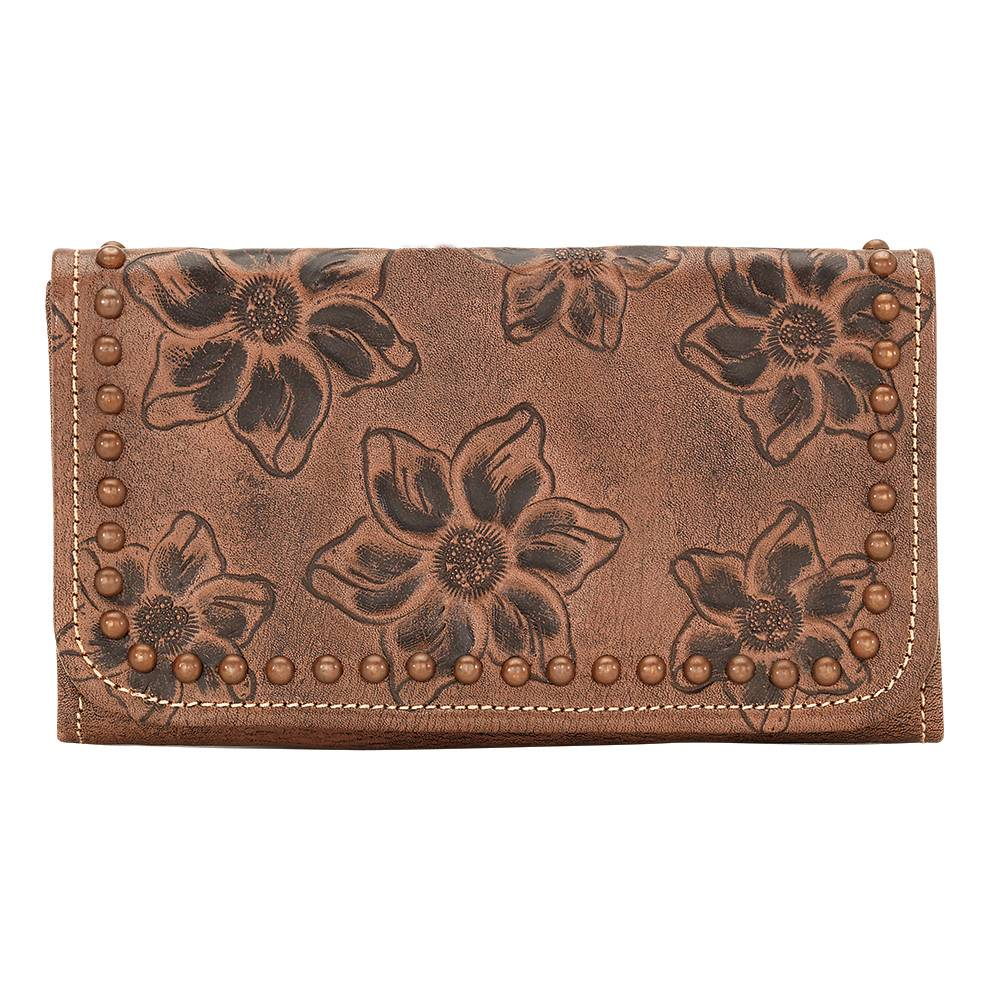 AMERICAN WEST Flower Child Tri-Fold Wallet - Dusty Rose
