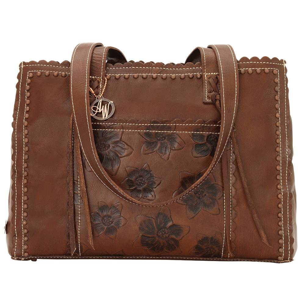 AMERICAN WEST Flower Child Shopper Tote - Brown