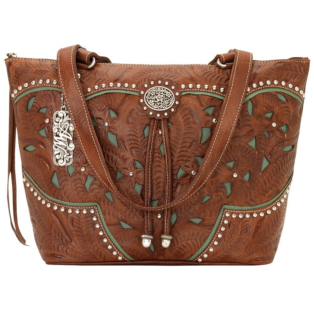 AMERICAN WEST Lady Lace Zip Top Bucket Tote